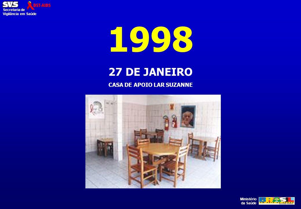 Ministério da Saúde Secretaria de Vigilância em Saúde 1998 27 DE JANEIRO CASA DE APOIO LAR SUZANNE