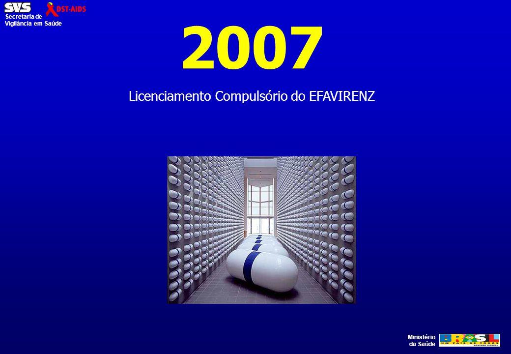 Ministério da Saúde Secretaria de Vigilância em Saúde 2007 Licenciamento Compulsório do EFAVIRENZ