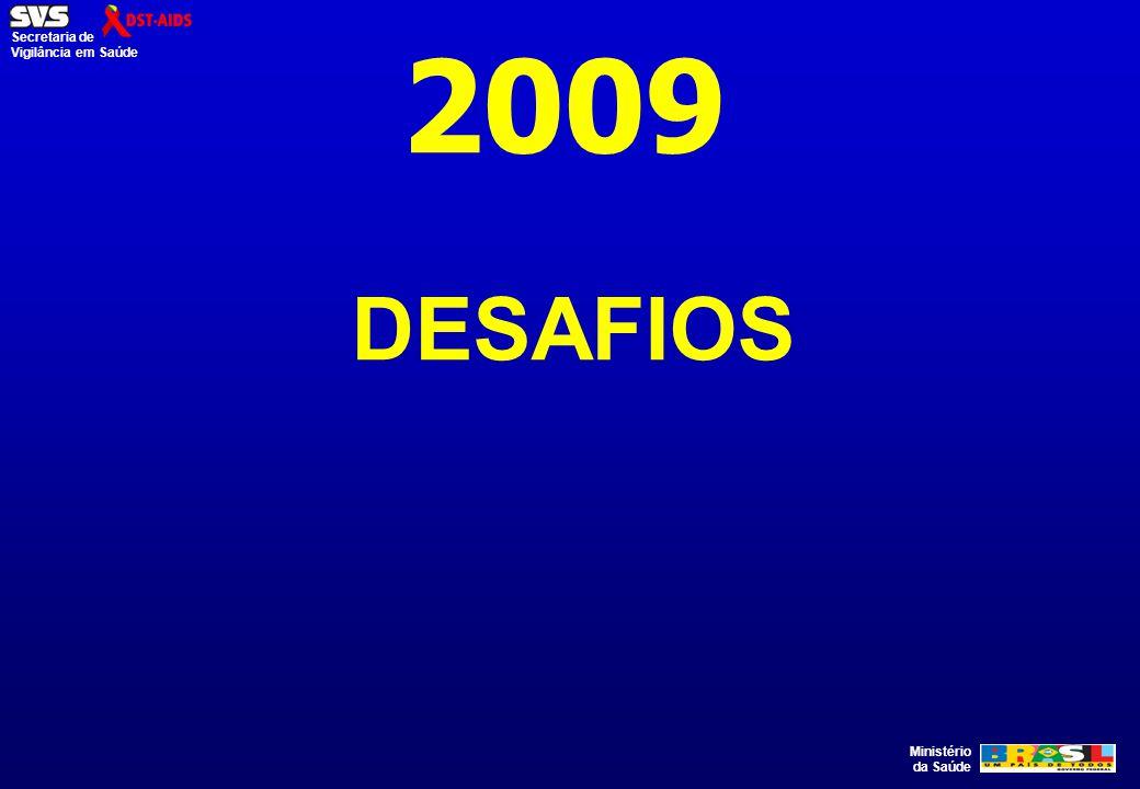 Ministério da Saúde Secretaria de Vigilância em Saúde 2009 DESAFIOS