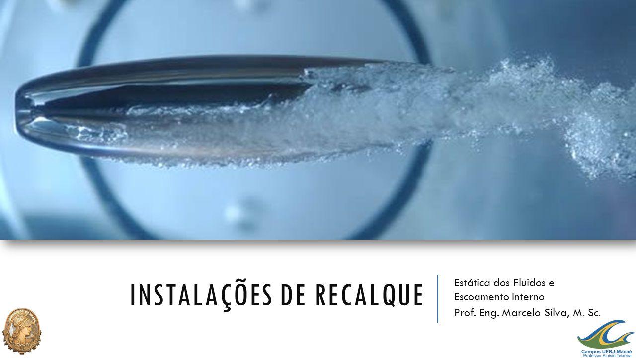 INSTALAÇÕES DE RECALQUE Estática dos Fluidos e Escoamento Interno Prof. Eng. Marcelo Silva, M. Sc.