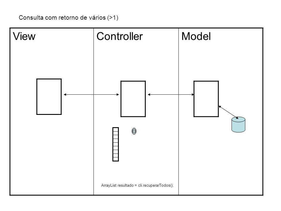 Consulta com retorno de vários (>1) ViewControllerModel 0 1 2 3 4 5...