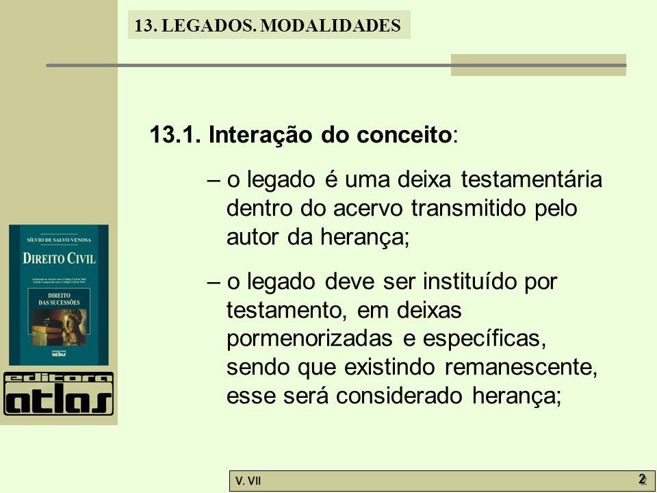 13.LEGADOS. MODALIDADES V. VII 2 2 13.1.