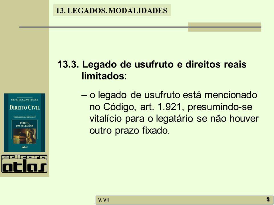 13.LEGADOS. MODALIDADES V. VII 5 5 13.3.