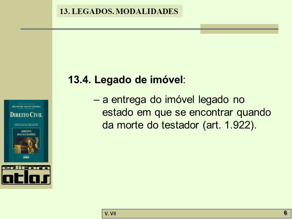 13.LEGADOS. MODALIDADES V. VII 6 6 13.4.