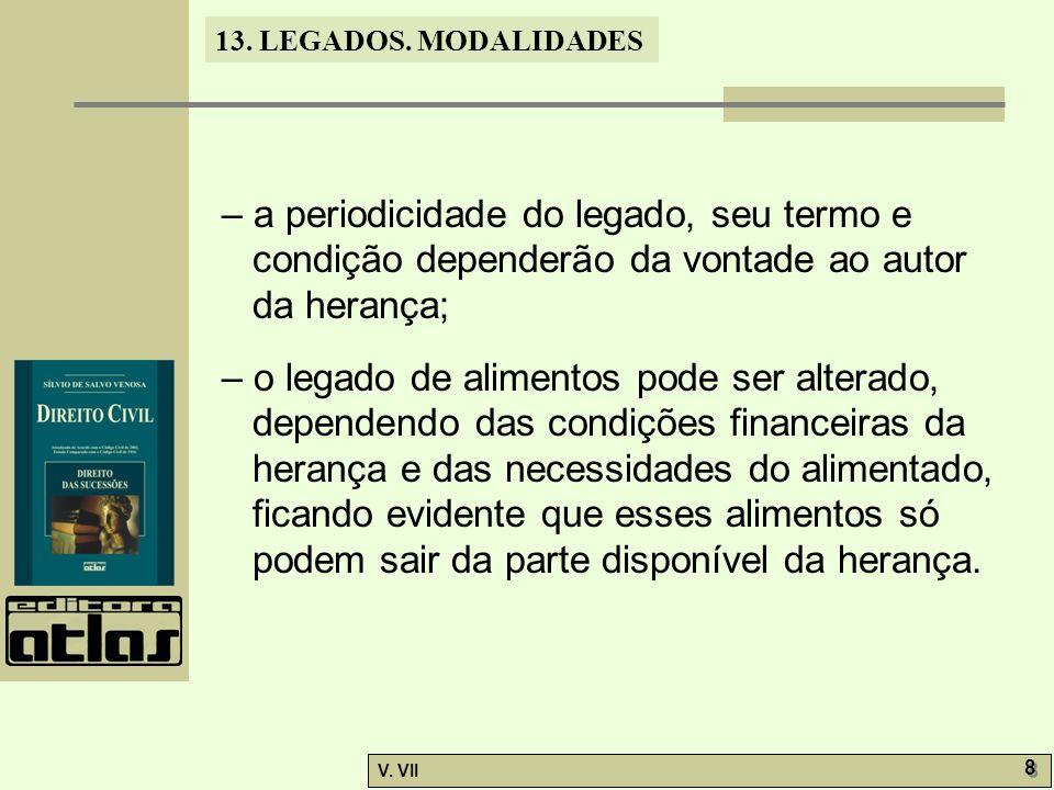 13.LEGADOS. MODALIDADES V.