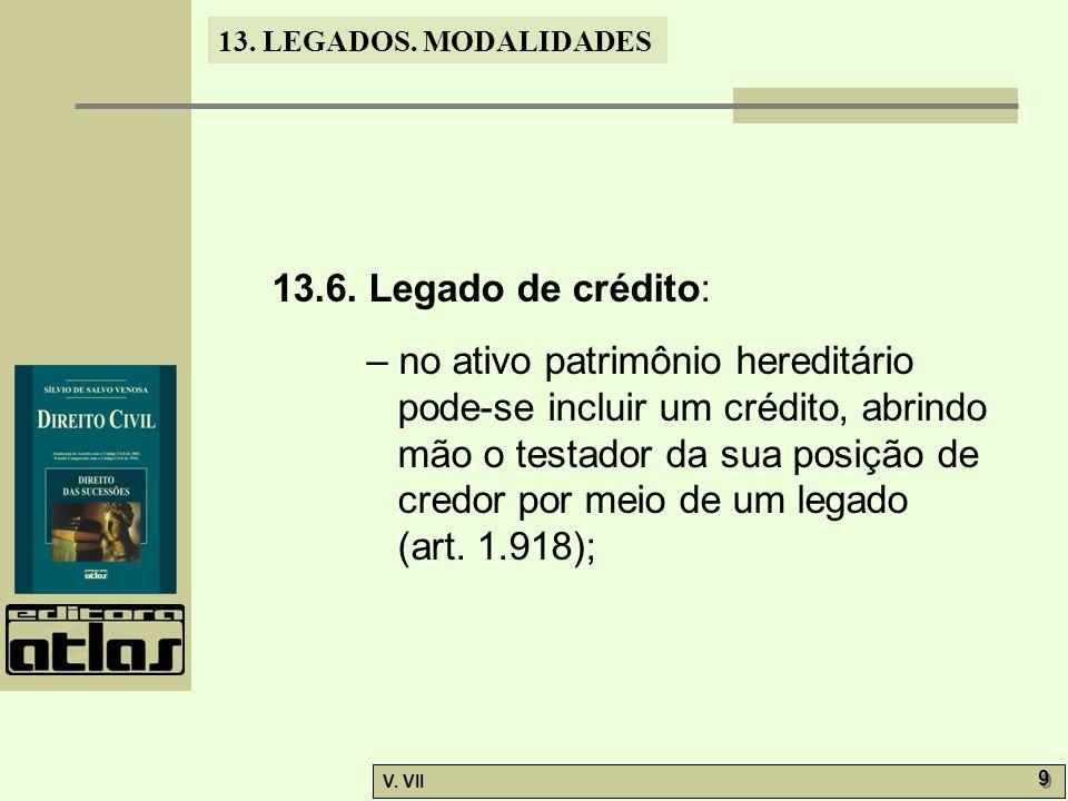 13.LEGADOS. MODALIDADES V. VII 9 9 13.6.