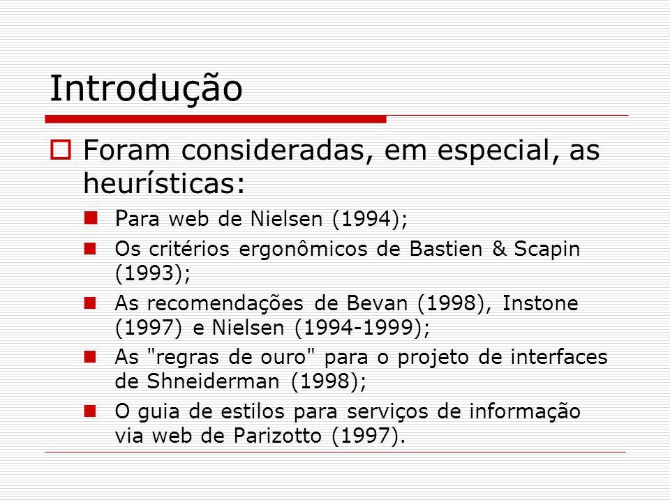 Heurística 3 - Recomendações  Possibilitar o retorno à página anterior.
