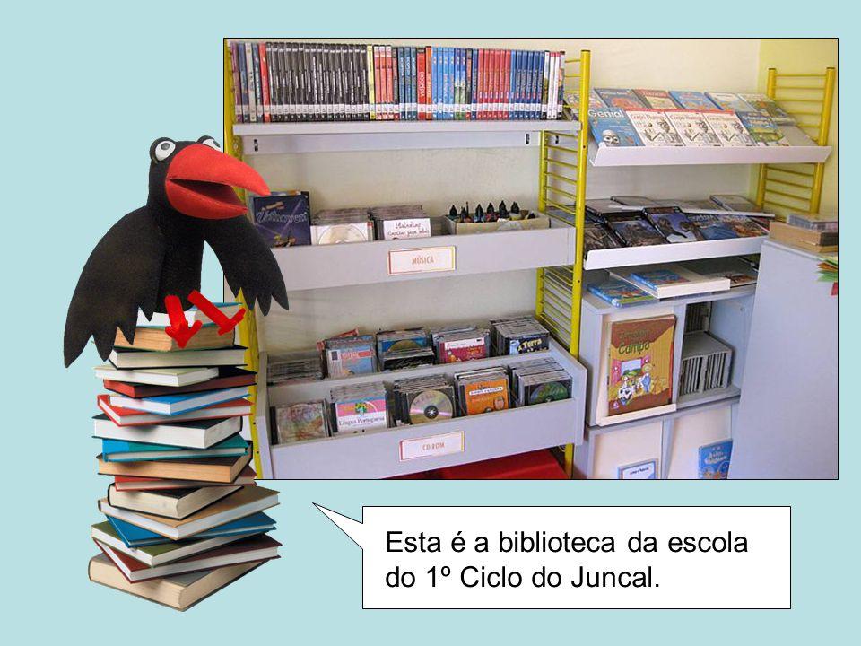 Esta é a biblioteca da escola do 1º Ciclo do Juncal.