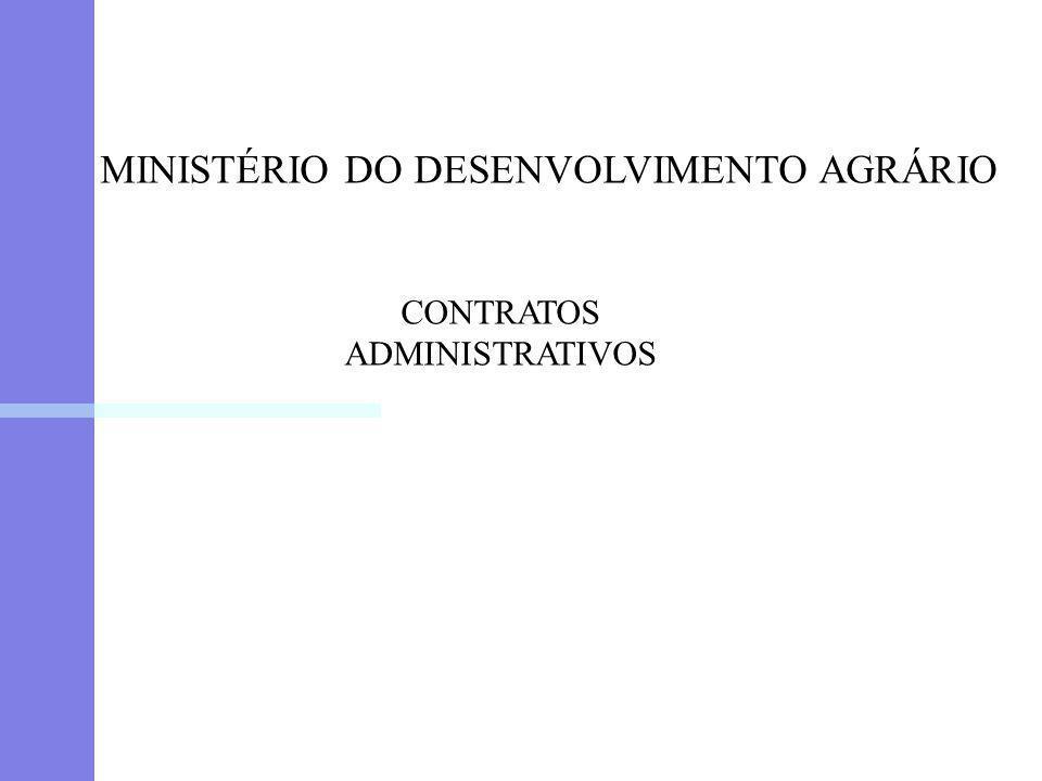 MINISTÉRIO DO DESENVOLVIMENTO AGRÁRIO CONTRATOS ADMINISTRATIVOS