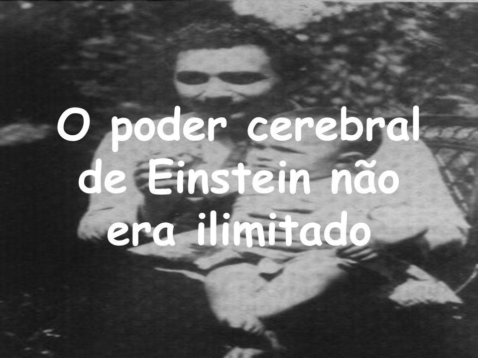 O poder cerebral de Einstein não era ilimitado