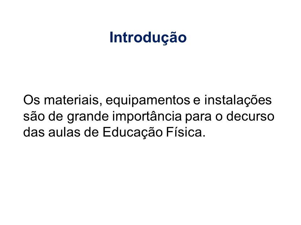 Os materiais, equipamentos e instalações são de grande importância para o decurso das aulas de Educação Física. Introdução