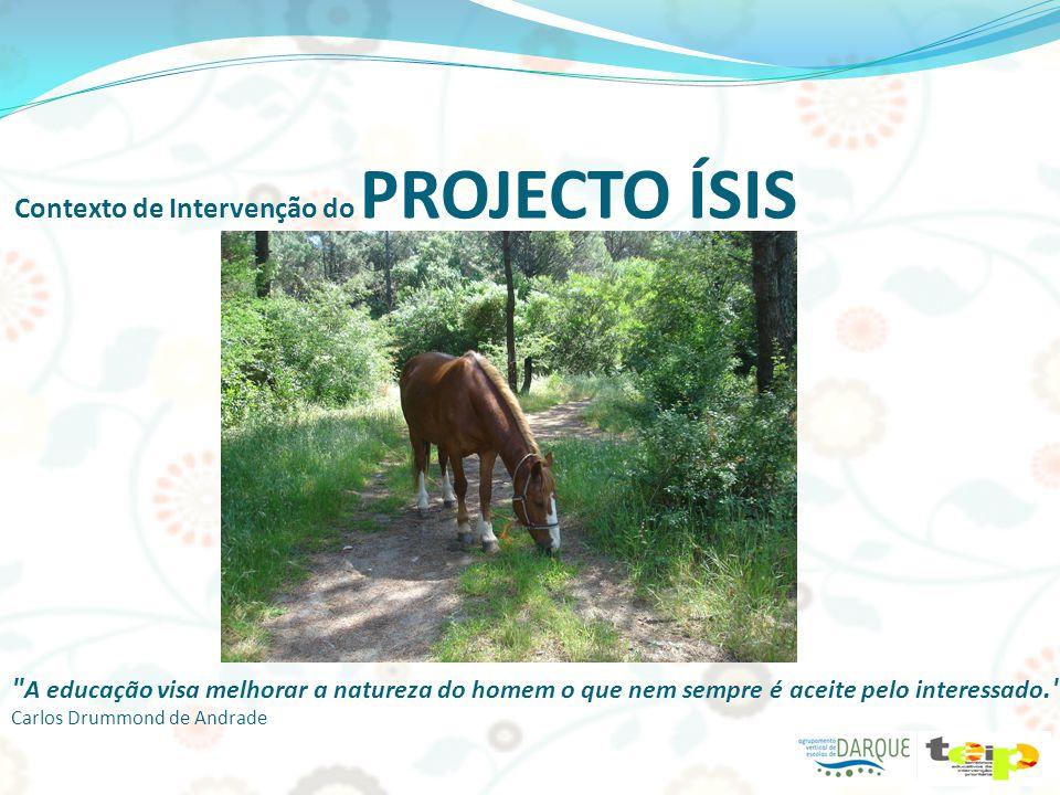 Actividades do PROJECTO ÍSIS A escola da experiência é a mais educativa. Jean Molière Promoção do desenvolvimento infantil