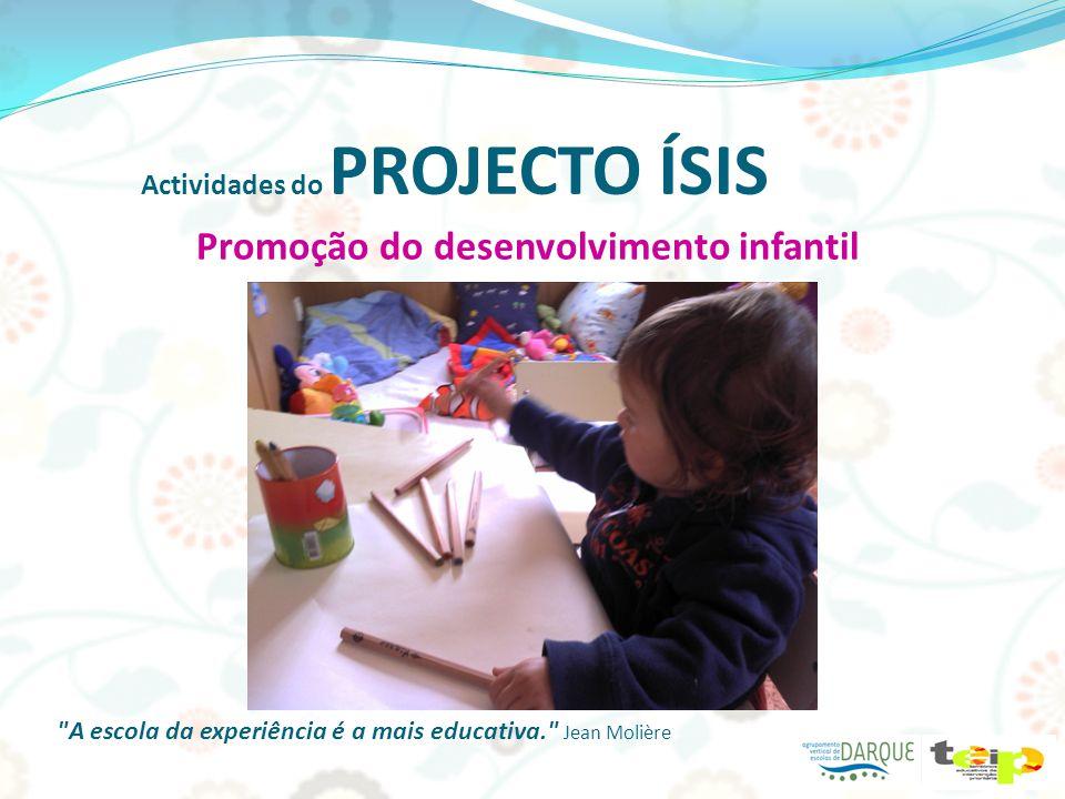 Actividades do PROJECTO ÍSIS Avaliação do desenvolvimento infantil A educação exige os maiores cuidados, porque influi sobre toda a vida. Séneca Obrigada Psicóloga Flávia!