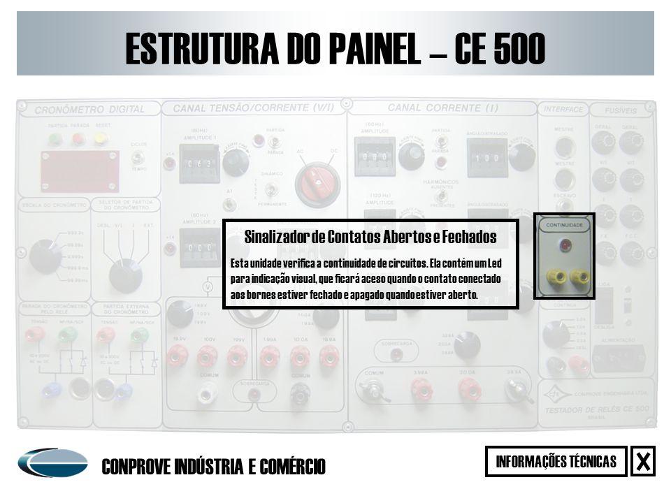 Fonte de Corrente Contínua A fonte de corrente contínua do equipamento foi projetada para testar bandeirolas de relés.