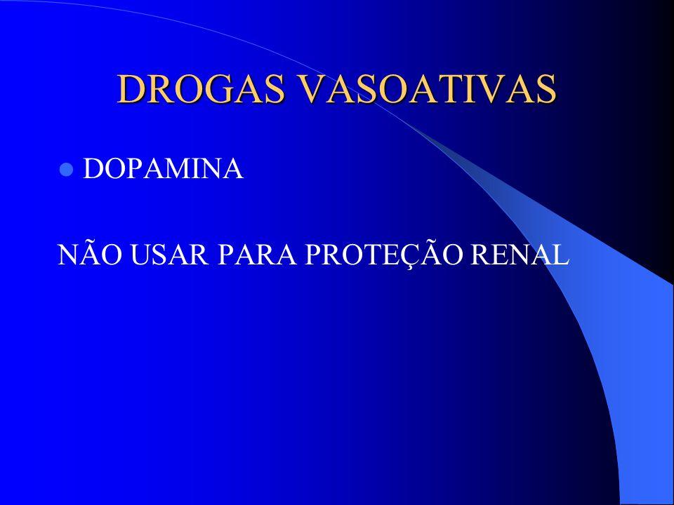 DROGAS VASOATIVAS DOPAMINA NÃO USAR PARA PROTEÇÃO RENAL
