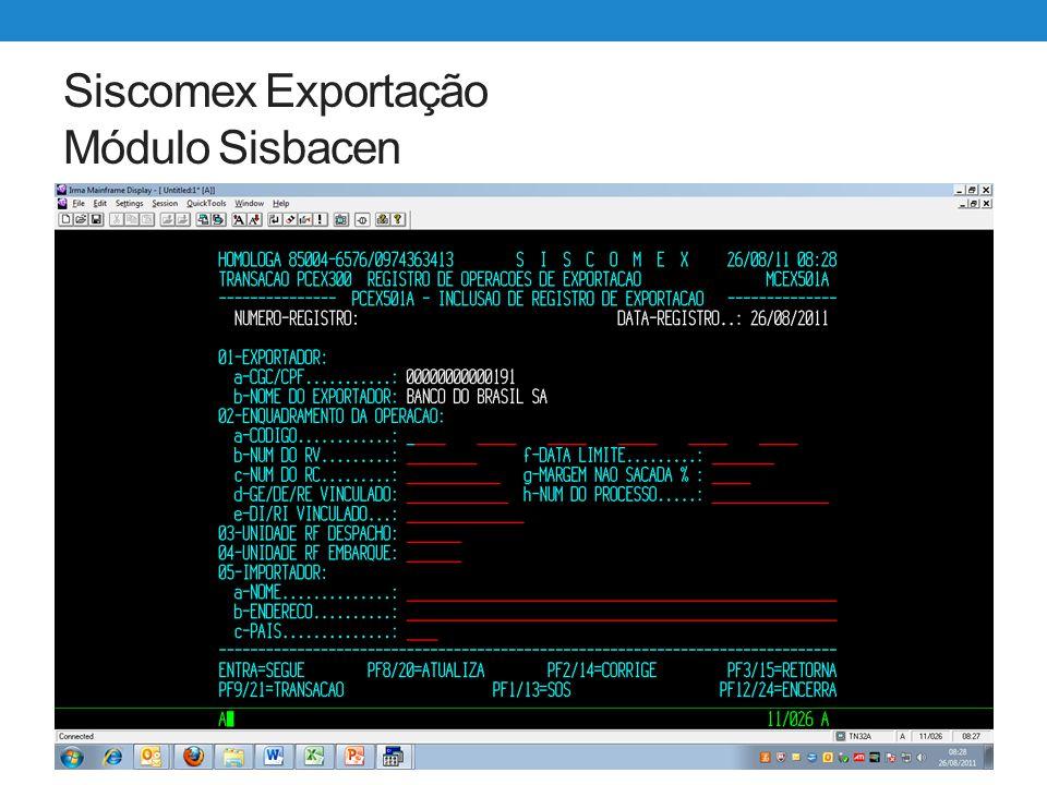 Siscomex Exportação WEB Utilização Sistema Exportação Web ainda permite as seguintes alterações no RE: Cancelamento do RE Alteração de RE já registrado Alteração de RE já averbado Prorrogação de RE não vencido.