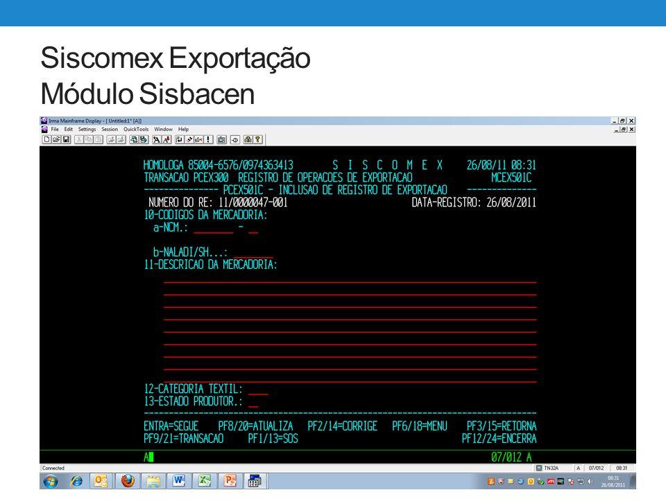 Siscomex Exportação WEB Utilização – Criação de Adição ao RE No sistema Exportação Web cada RE pode ter apenas 1 código de NCM e até 5 itens de mercadoria.