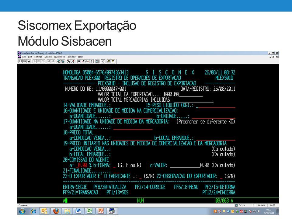 Siscomex Exportação WEB Utilização Campo Data Limite Para exportações com enquadramentos que exigem o retorno da mercadoria ao Brasil, o Exportação Web exige o preenchimento do campo Data Limite.