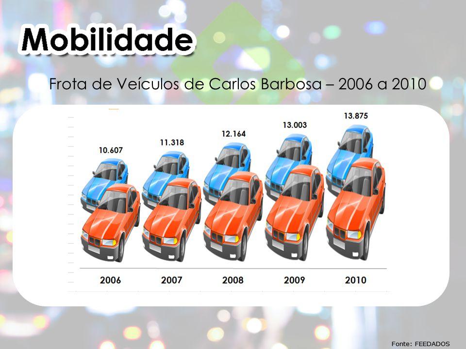 Fonte: FEEDADOS Frota de Veículos de Carlos Barbosa – 2006 a 2010