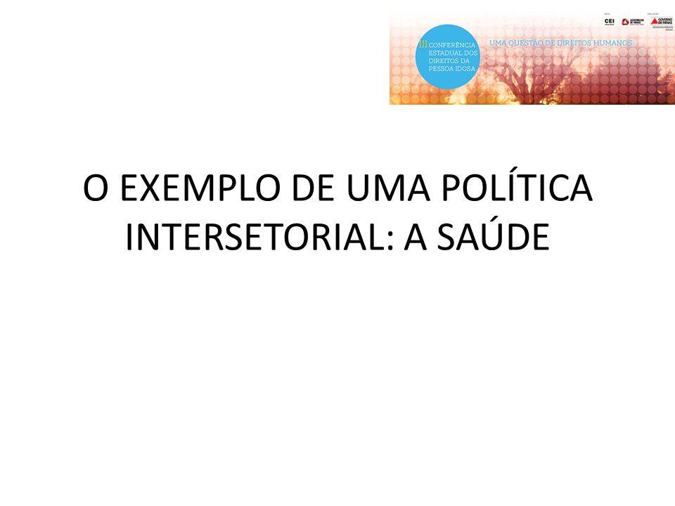 O EXEMPLO DE UMA POLÍTICA INTERSETORIAL: A SAÚDE