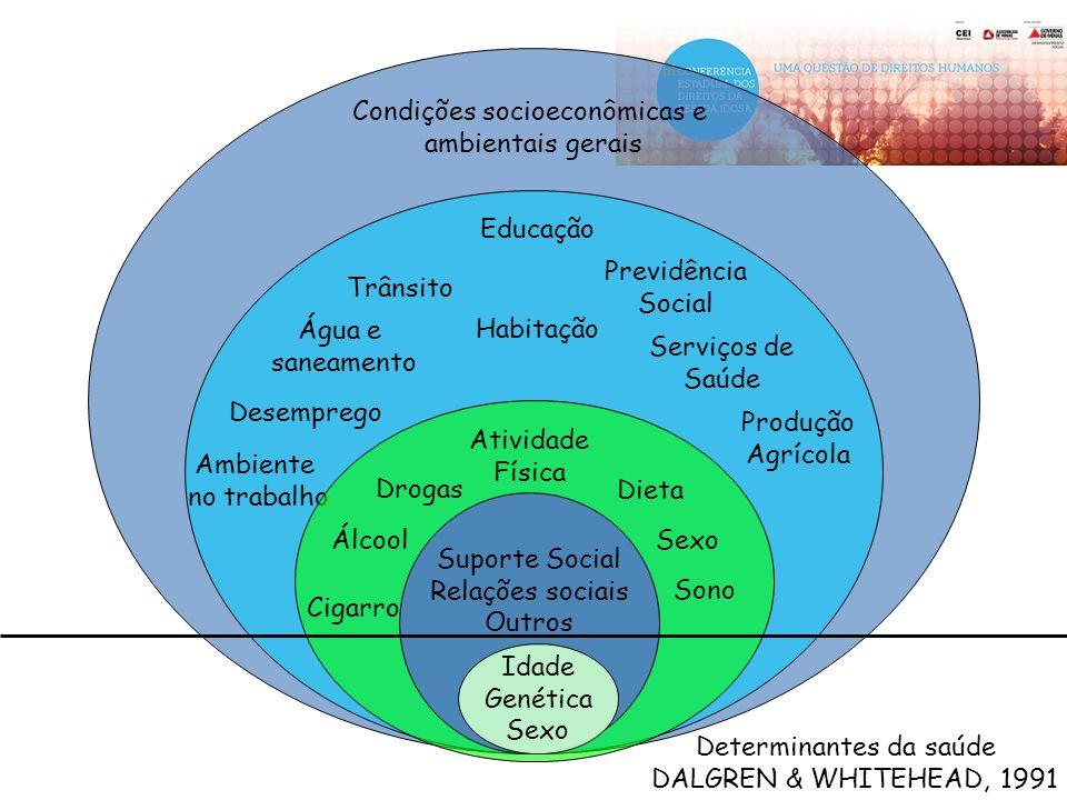 Condições socioeconômicas e ambientais gerais Ambiente no trabalho Desemprego Habitação Trânsito Educação Água e saneamento Previdência Social Serviço