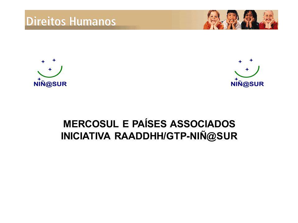 MERCOSUL E PAÍSES ASSOCIADOS INICIATIVA RAADDHH/GTP-NIÑ@SUR