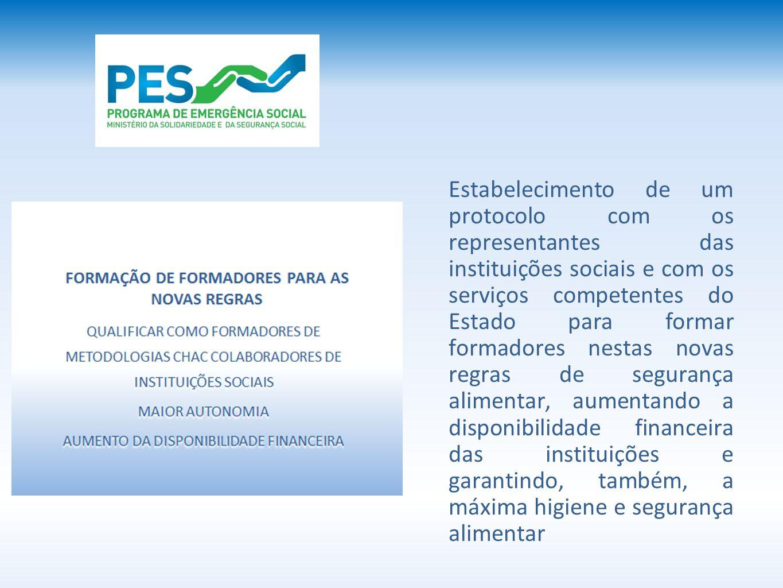Estabelecimento de um protocolo com os representantes das instituições sociais e com os serviços competentes do Estado para formar formadores nestas n
