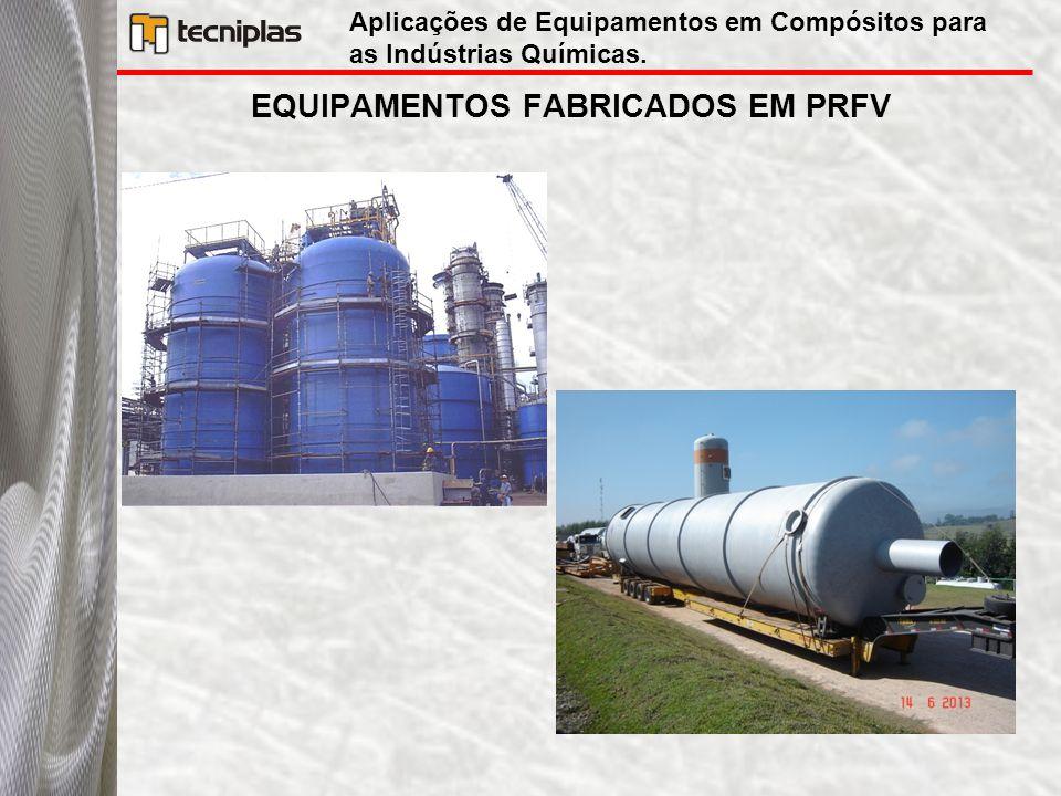 EQUIPAMENTOS FABRICADOS EM PRFV Aplicações de Equipamentos em Compósitos para as Indústrias Químicas.