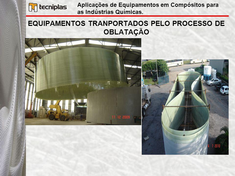 EQUIPAMENTOS TRANPORTADOS PELO PROCESSO DE OBLATAÇÃO Aplicações de Equipamentos em Compósitos para as Indústrias Químicas.