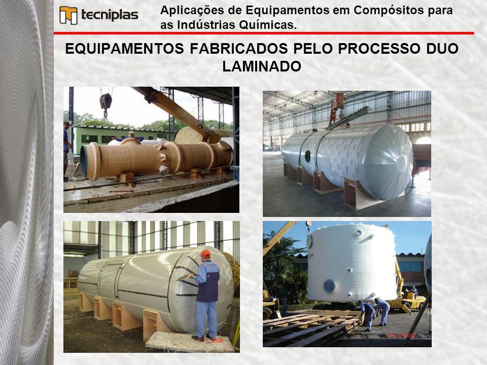 EQUIPAMENTOS FABRICADOS PELO PROCESSO DUO LAMINADO Aplicações de Equipamentos em Compósitos para as Indústrias Químicas.