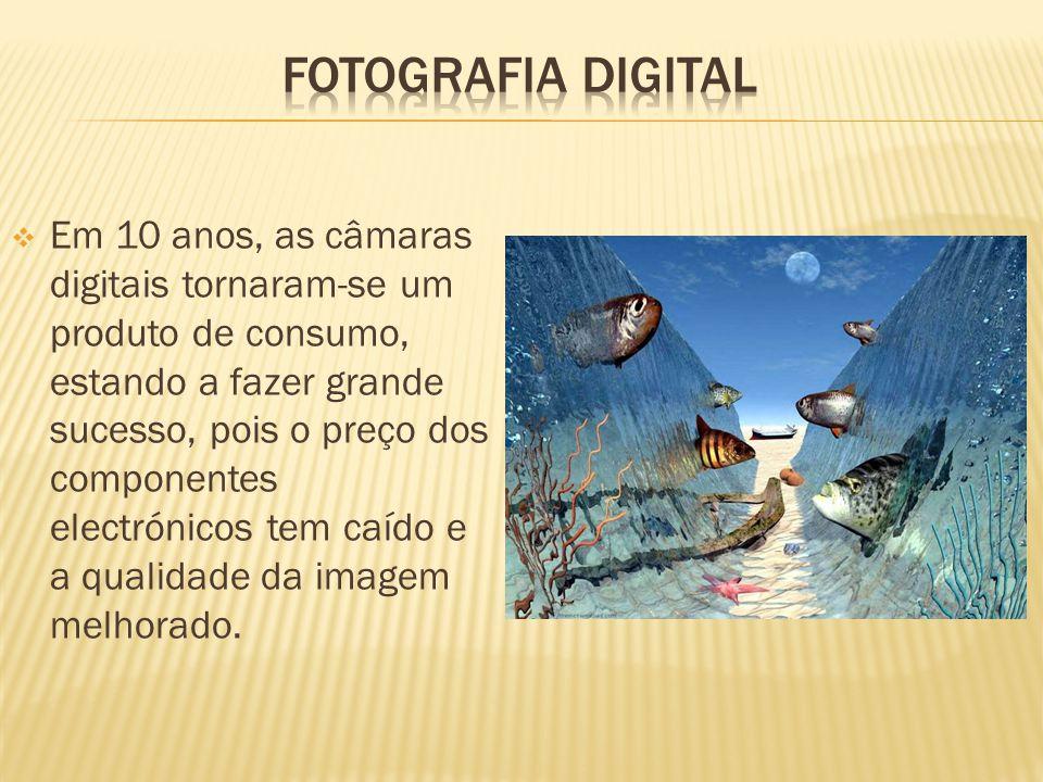  Em 10 anos, as câmaras digitais tornaram-se um produto de consumo, estando a fazer grande sucesso, pois o preço dos componentes electrónicos tem caído e a qualidade da imagem melhorado.