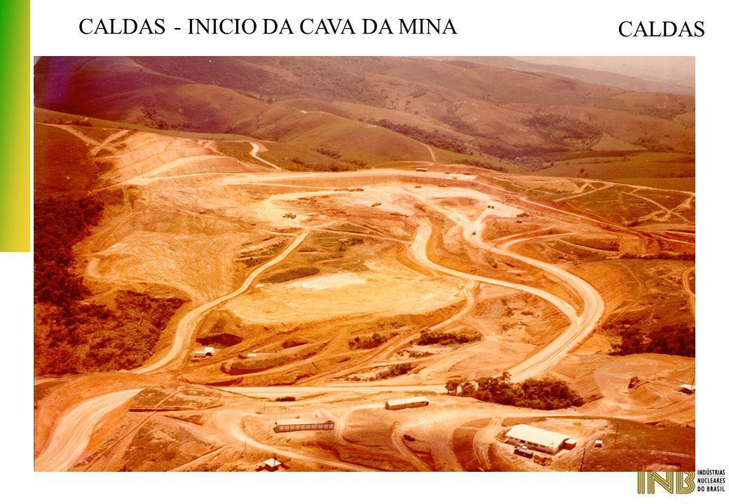 CALDAS - INICIO DA CAVA DA MINA CALDAS