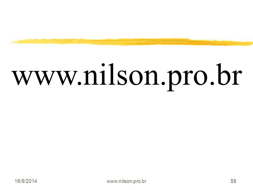 16/9/2014www.nilson.pro.br59 www.nilson.pro.br