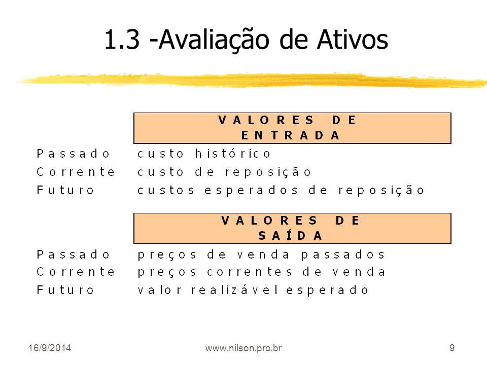 9 1.3 -Avaliação de Ativos 16/9/2014www.nilson.pro.br