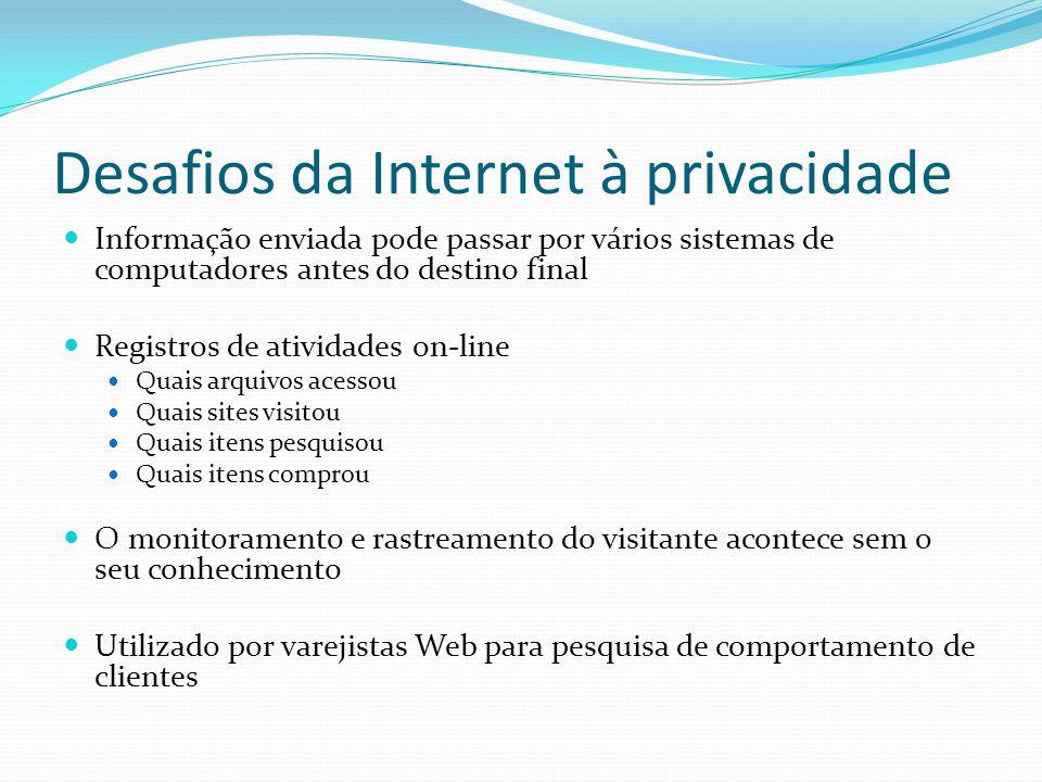 Legislação: Brasil Projeto de Lei: Ministério da Justiça (2011) Parceria com Centro de Tecnologia e Sociedade (FGV- Rio): http://culturadigital.br/dadospessoais/ ''colocação de argumentos que possam servir de subsídios para a conclusão da elaboração do projeto de lei'' – debate disponível por 60 dias até 30/04/11