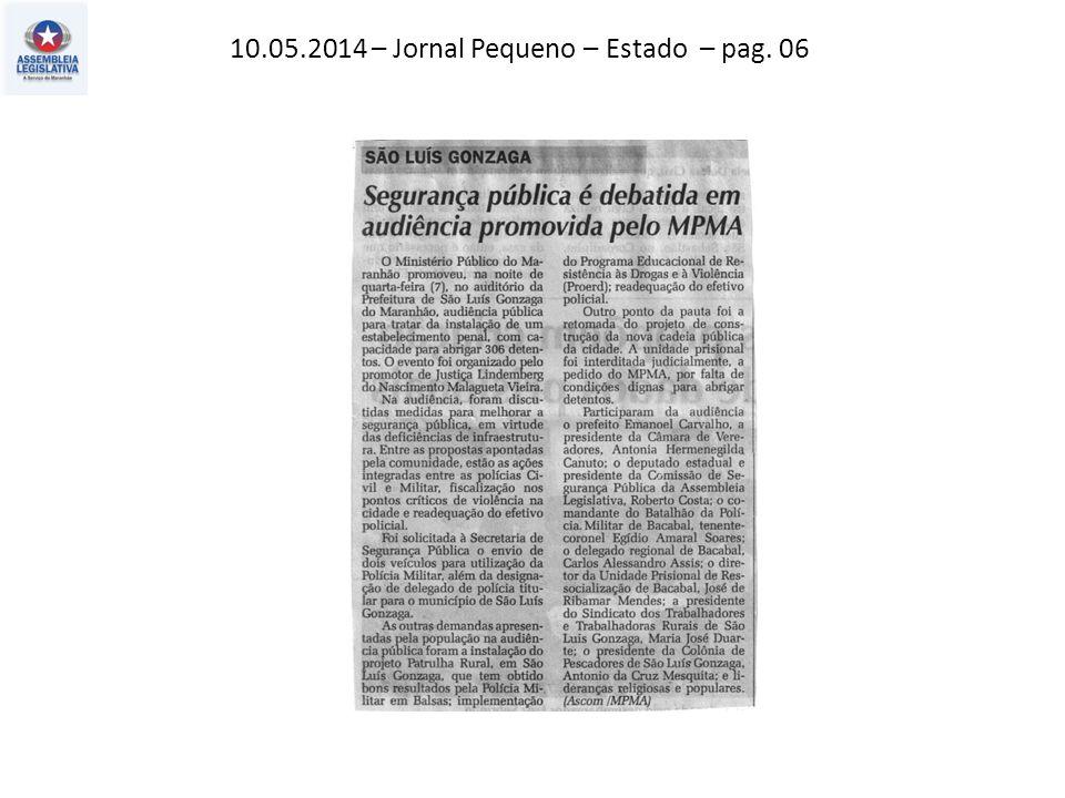 12.05.2014 – Jornal Pequeno – Política – pag. 03