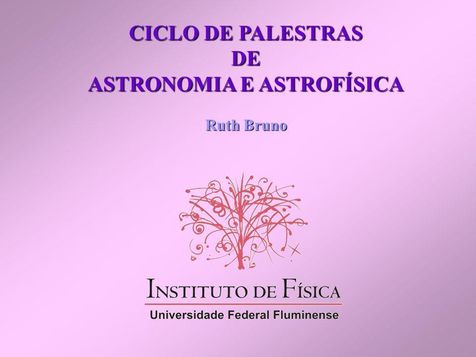 CICLO DE PALESTRAS DE ASTRONOMIA E ASTROFÍSICA Ruth Bruno