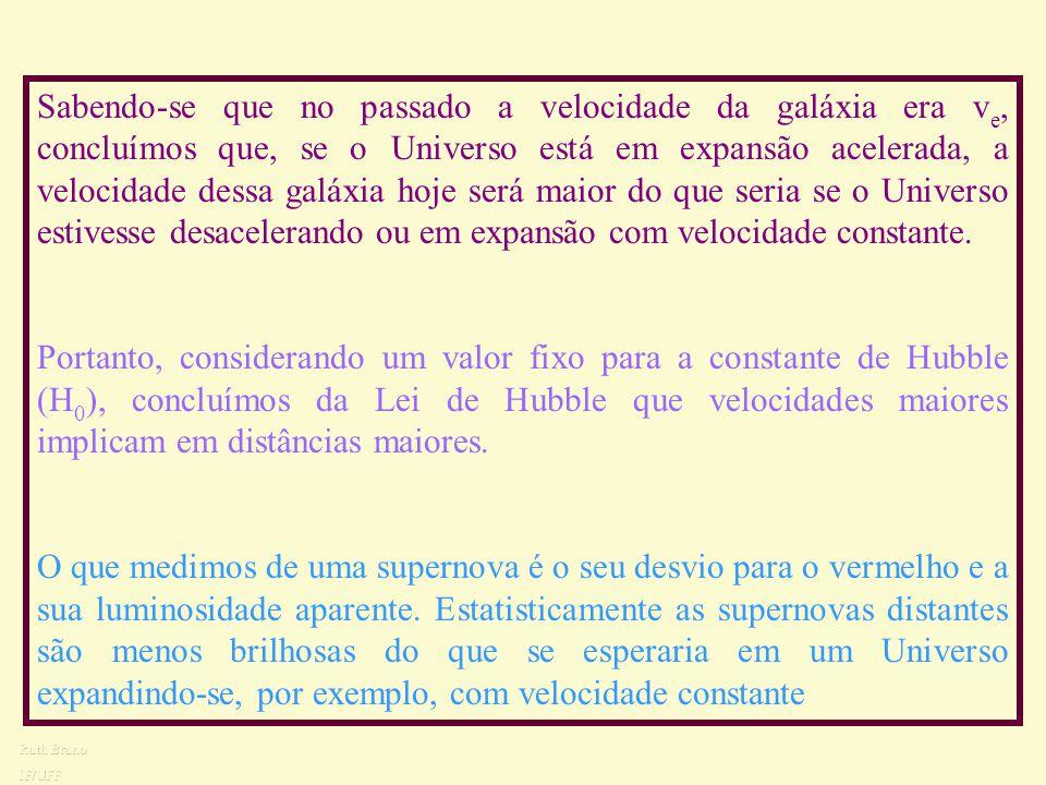Como é que as supernovas podem indicar que o Universo está em expansão acelerada? As distâncias em um Universo em expansão acelerada são maiores do qu