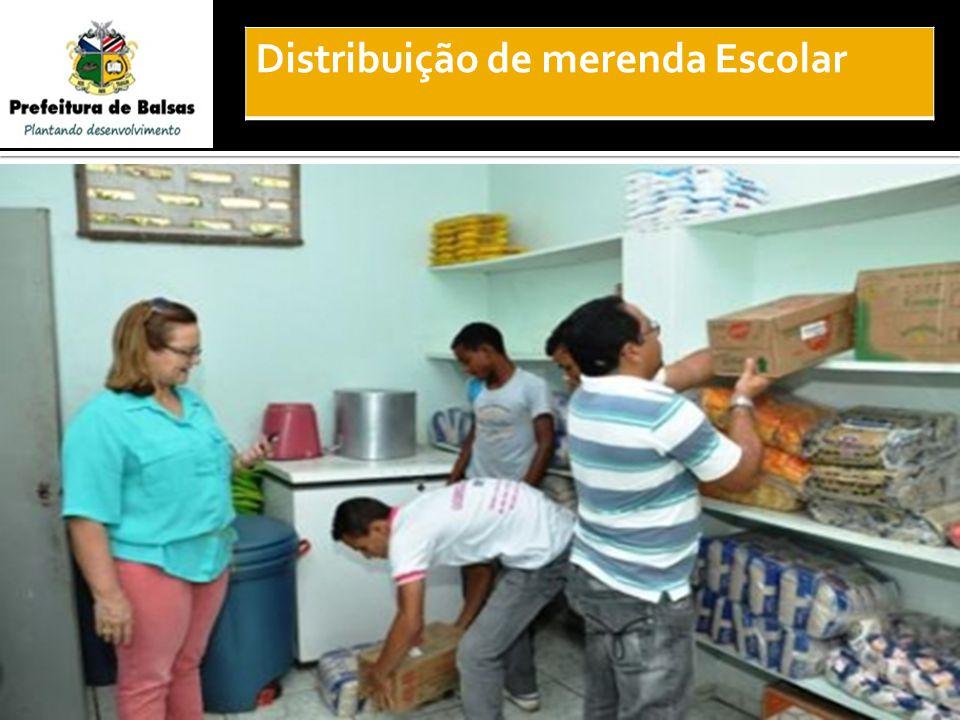 Distribuição de merenda Escolar