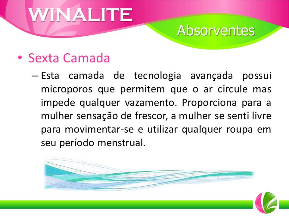 Sexta Camada – Esta camada de tecnologia avançada possui microporos que permitem que o ar circule mas impede qualquer vazamento. Proporciona para a mu