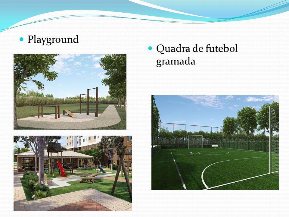 Playground Quadra de futebol gramada