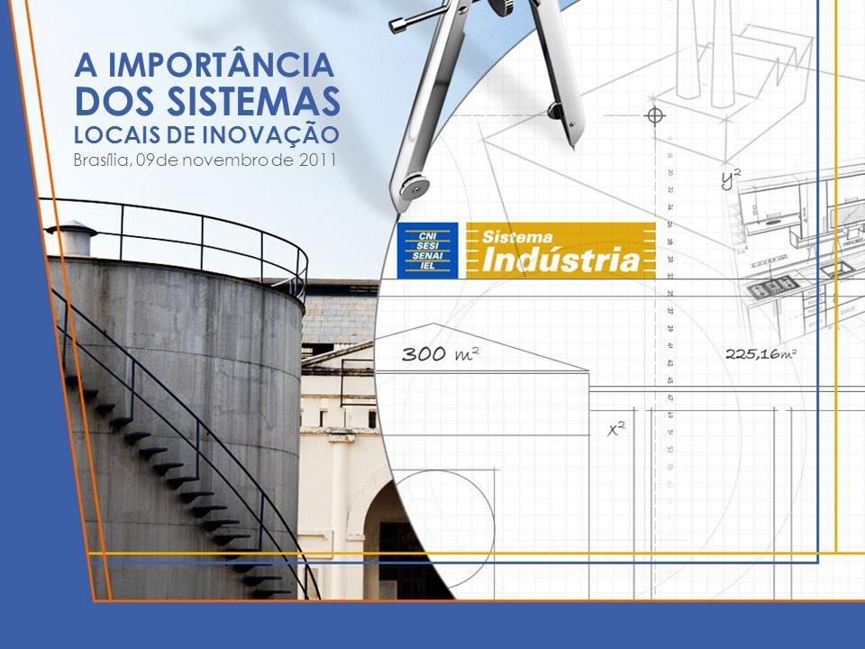 A IMPORTÂNCIA DOS SISTEMAS LOCAIS DE INOVAÇÃO Brasília, 09de novembro de 2011