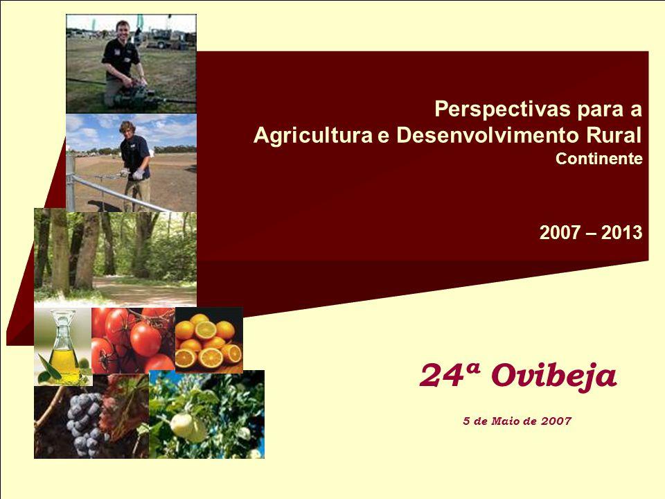 Perspectivas para a Agricultura e Desenvolvimento Rural Continente 2007 – 2013 24ª Ovibeja 5 de Maio de 2007