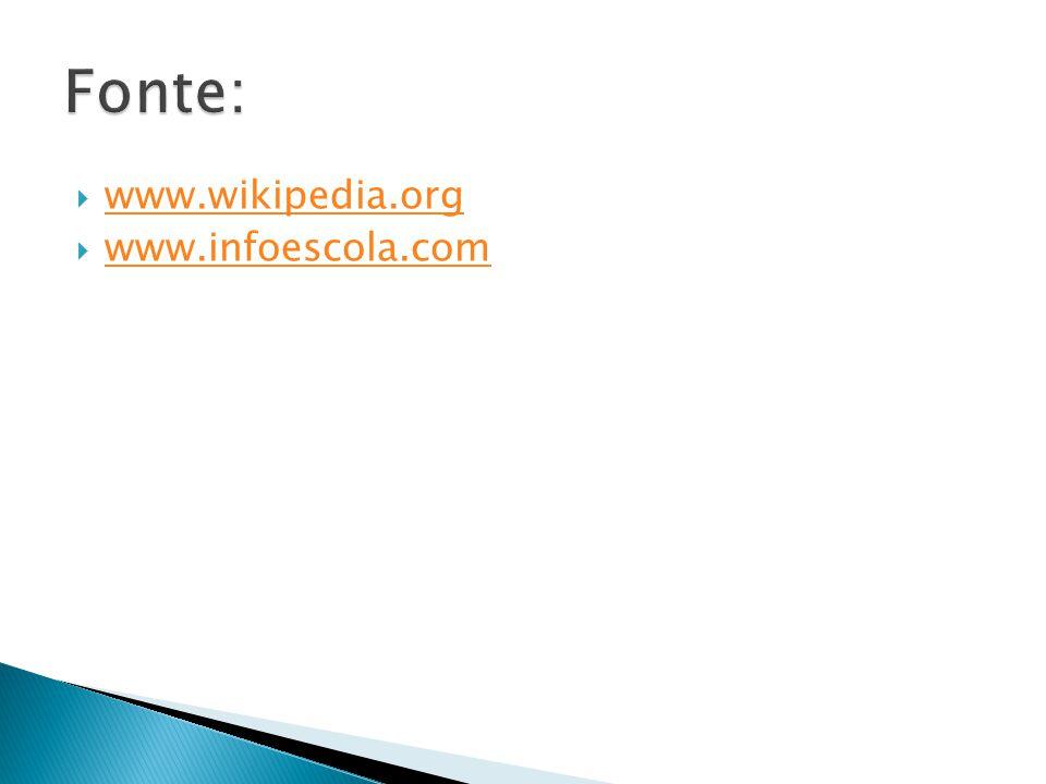  www.wikipedia.org www.wikipedia.org  www.infoescola.com www.infoescola.com
