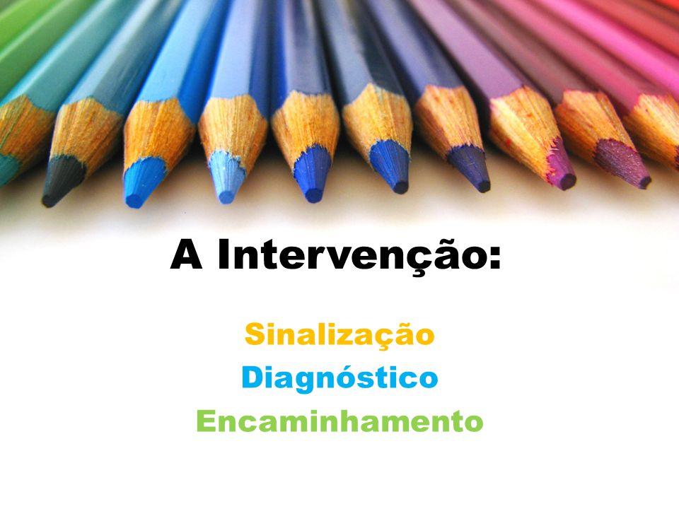 A Intervenção: Sinalização Diagnóstico Encaminhamento