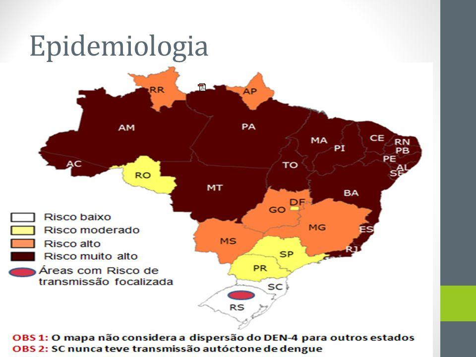 Epidemiologia Mapa da dengu 2011 Fonte: Ministério da Saúde Mapeamento dos municípios infestados por Aedes aegypti em 2008. Casos Notificados, Brasil,