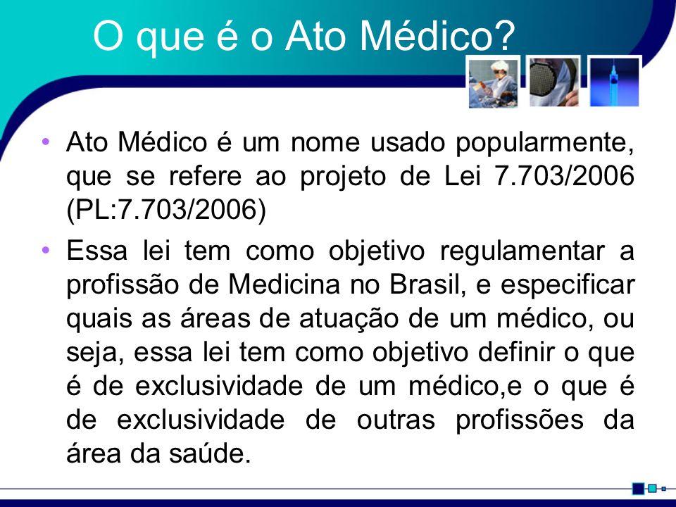 O que é o Ato Médico.