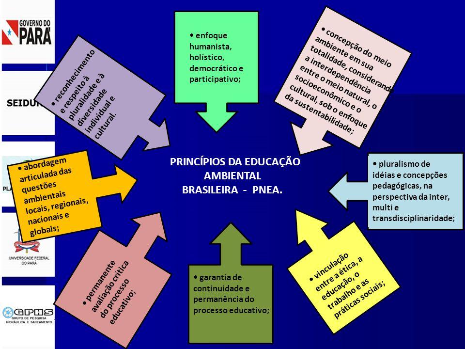 PRINCÍPIOS DA EDUCAÇÃO AMBIENTAL BRASILEIRA - PNEA.