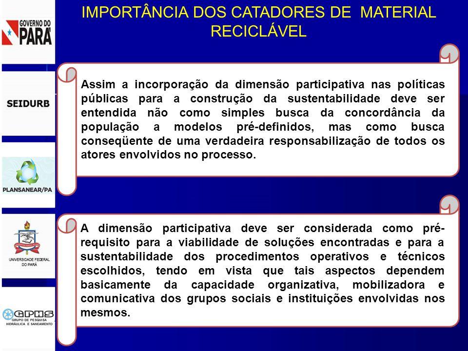 Assim a incorporação da dimensão participativa nas políticas públicas para a construção da sustentabilidade deve ser entendida não como simples busca da concordância da população a modelos pré-definidos, mas como busca conseqüente de uma verdadeira responsabilização de todos os atores envolvidos no processo.