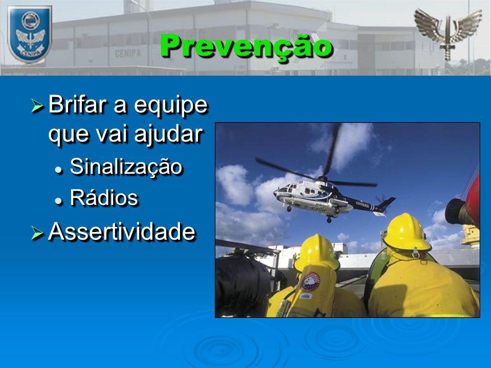 PrevençãoPrevenção  Brifar a equipe que vai ajudar Sinalização Sinalização Rádios Rádios  Assertividade  Brifar a equipe que vai ajudar Sinalização